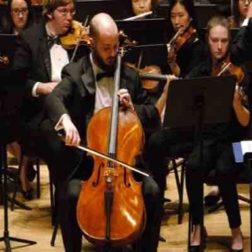 Performing Elgar cello concerto with the UMBC symphony orchestra.