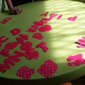 Used alphabet letters for recall of sight words.