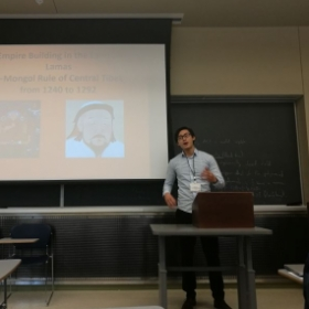 me presenting at Mid-West Conferences on Asian Affairs in October 2016