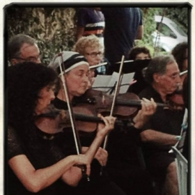 Performing with the Jerusalem Hovevei Orchestra on 1st Violin