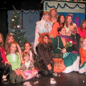"""Cast of our Theatre Creators Kids production from our North Hollywood days, """"Mother Hubbard's Winter Wish."""""""