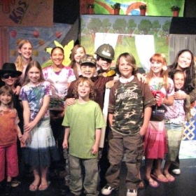"Cast of our Theatre Creators Kids production from our North Hollywood days, ""A Place to Play."""