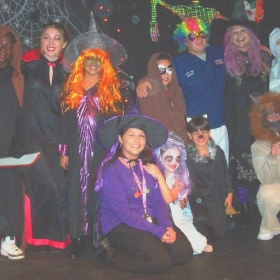 "Cast of our Theatre Creators Kids production from our North Hollywood days, ""Draculina's Haunted Birthday Bash."""