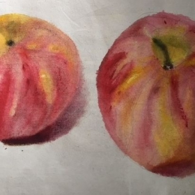 still life apples (detail)
