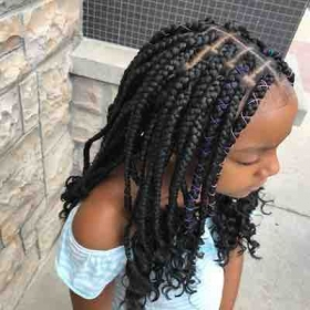 Box Braids with braid extensions