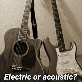 The difference between electric and acoustic is the sound they both still have the same notes weather is open-chords or bar-chords