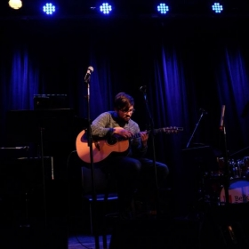 """Performing one of my solo acoustic guitar pieces (""""Waiting"""")"""