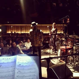 On stage with Kirk Whalum in Tokyo