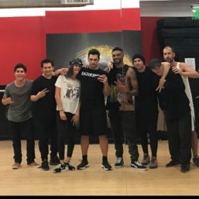 """Hip Hop basics"" teaching James Franco and friends"