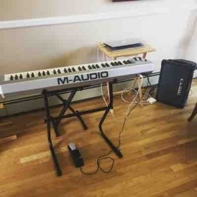 At my location I ensure that we have the tools you need to succeed - a piano, microphone speaker, and more!