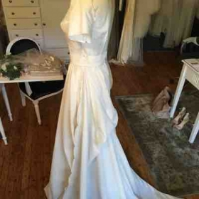 Draping for bridal gown.