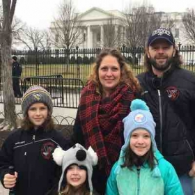 With my family in Washington D.C.