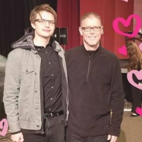 Me with my favorite BD after a Jazz Band performance.