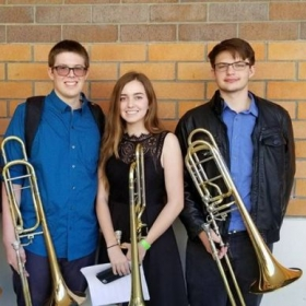 Me with part of my competing Trombone Quartet.