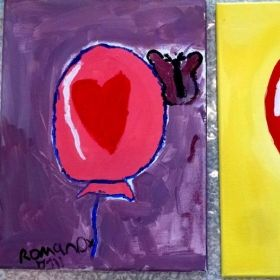 Balloons and Butterfly Acrylic Painting Workshop.