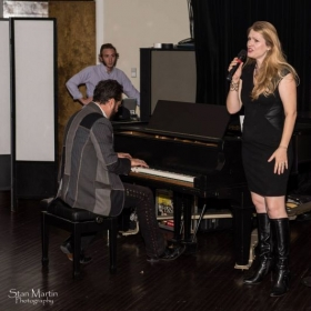 Singing for 'The Smile Never Fades' benefit in Austin, Texas.