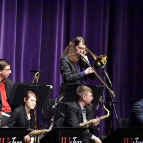 Playing a bass trombone solo, live in Bloomington, IN (2018)