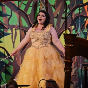 As the Dew Fairy in Hansel and Gretel, Opera Theatre of Montclair