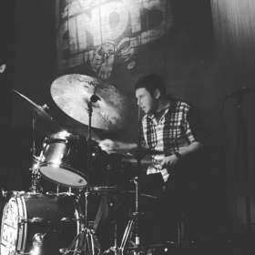 A photo of me playing at the world famous Andy's Jazz Club in Chicago!