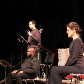 """Trutt onstage during """"The Sapelo Project"""" by Josiah Watts at Theater Emory*.  *a professional Equity S.P.T. theater in residence at Emory."""