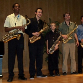 My saxophone studio from Las Cruces, NM, 2012. This was right after a studio concert we put on. They played their hearts out!