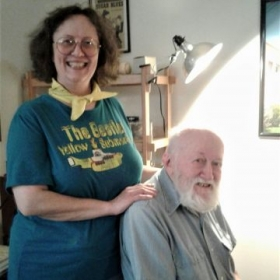 Miss Melodie F and piano student Bob, Oct. 2018