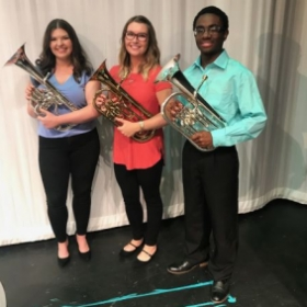 My tenor horn section from the Diamond Brass Band.
