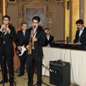 """In the Works"" performing at the Stevens Annual Awards Gala 2018 at the Plaza Hotel in Manhattan, New York."