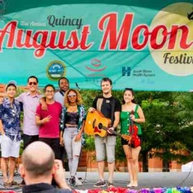 Live at August Moon Festival in Quincy, MA with International Artist Miu Haiti and my band The Sunset Kings