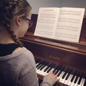 Giving my student some challenging pieces to sightread!