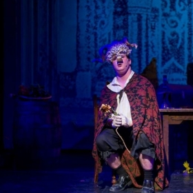 Performing as The Beast in Beauty and The Beast at the Five Angels Theatre in NYC.