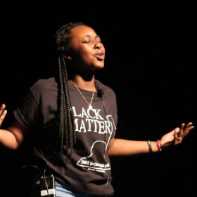 One of my students, killing it on stage!