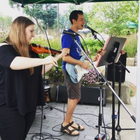 Duet at Weaver's Way Chestnut Hill with violinist Amelia Herbst