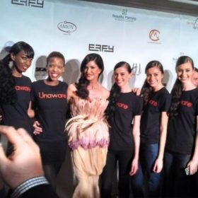 Our models at New York Fashion Week 2012 with Janice Dickinson.