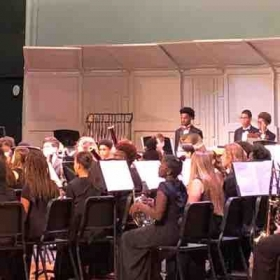 One of my graduating Seniors performing with the all county band in the percussion section.