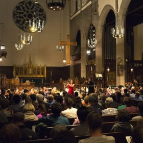 Performing a concerto with the Brookline Symphony Orchestra