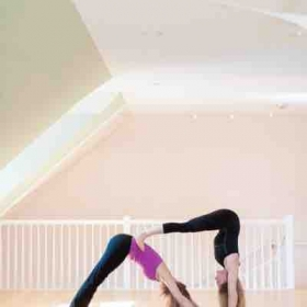 Partner yoga is a fun way to workout and connect with a friend or loved one!