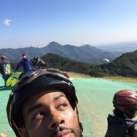 Paragliding in Seoul South Korea