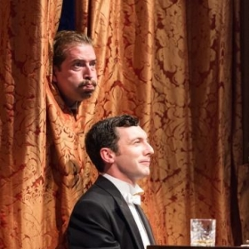 """As Balthasar in """"Much Ado About Nothing"""" in the RSC's West End production at Theatre Royal Haymarket, 2017."""