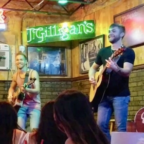 Performing at J. Gilligans in the DFW area