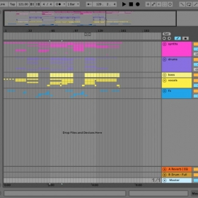 Here is a picture of an Ableton set of mine. I like to keep things organized.