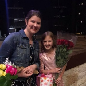 Last piano recital, with another of my amazing students.
