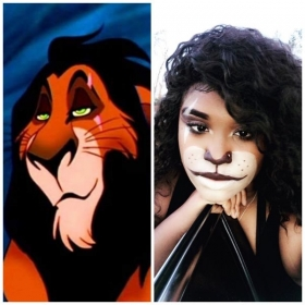 Scar from Lion King Halloween makeup 2018. Learn how to do custom makeup in my makeup class now! 