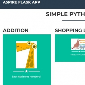 Three simple python apps to play with on the portfolio.