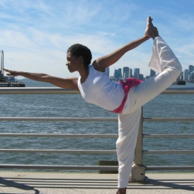 Me at Chelsea Piers in NYC