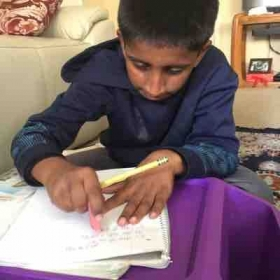 Pranav about to complete 2nd hindi Book