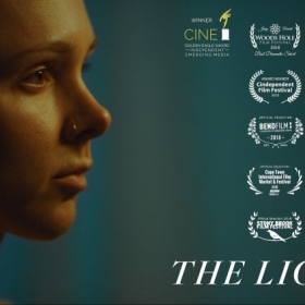 "Poster for Zach's award-winning film ""The Lightkeeper."""