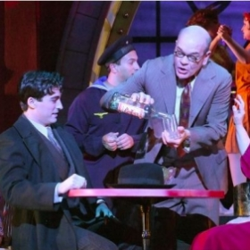 "Zach and Robert Picardo in ""Cabaret"" (Reprise Theatre Co. 2012)"