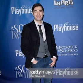 "Zach, photographed on opening night as a cast member of Noel Coward's 4-person play ""A Song at Twilight"" (Pasadena Playhouse 2014)."