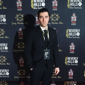 """Red carpet for """"The Lightkeeper"""" at the 2018 Beverly Hills Film Festival."""